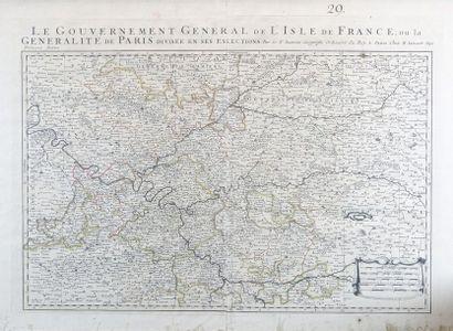 """Alexis-Hubert JAILLOT (1632?-1712) d'après Nicolas SANSON (1600-1667) """"Le Gouvernement..."""