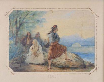 François-Auguste BIARD (1798-1882) La prisonnière...