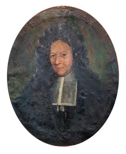 Ecole du XVIIe siècle Portrait d'homme. Huile...