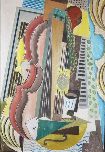 PETROFF (XXe siècle) Composition au violon...
