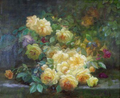 Marthe Élisabeth BARBAUD-KOCH (1862-c.1928) Bouquet. Huile sur toile signée en bas...