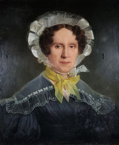 Ecole fin XIXe-début XXe siècle Portrait...