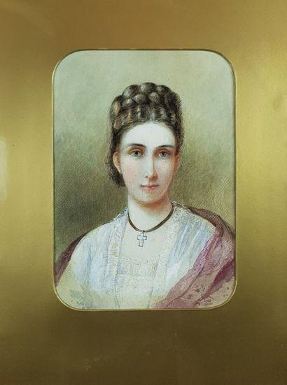 Ecole anglaise du début du XXe siècle Portrait...