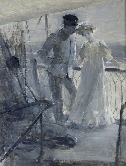 Henry BACON (1839-1912) Attribué à Sur la...