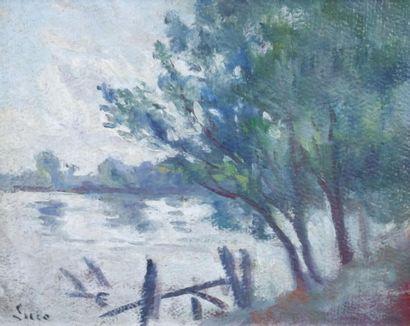 Maximilien L>UCE (1858-1941) Vue sur la Seine....