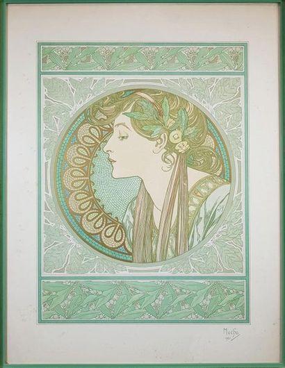 Alphonse MUCHA (1860-1939) Le laurier, 1901....