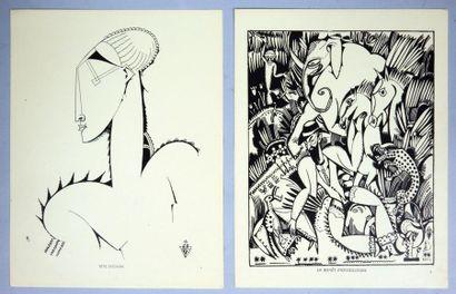 Amedeo DE SOUZA-CARDOSO (1887-1918). XX Dessins. Société Générale d'Impression,...