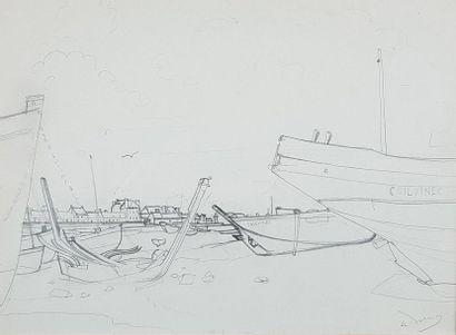 André DERAIN (1880-1954) Etude pour Marée...