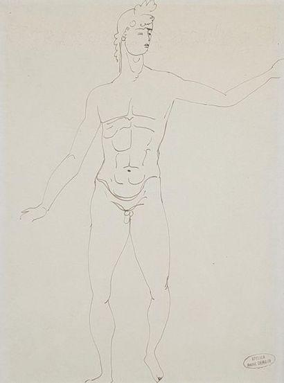 André DERAIN (1880-1954) Nu à l'antique....