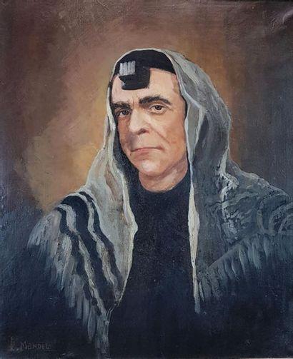 Lydia MANDEL (1900-1978) Portrait d'érudit...