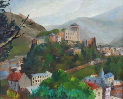 Maurice MARTIN (1894-1978) Vue de Lourdes....