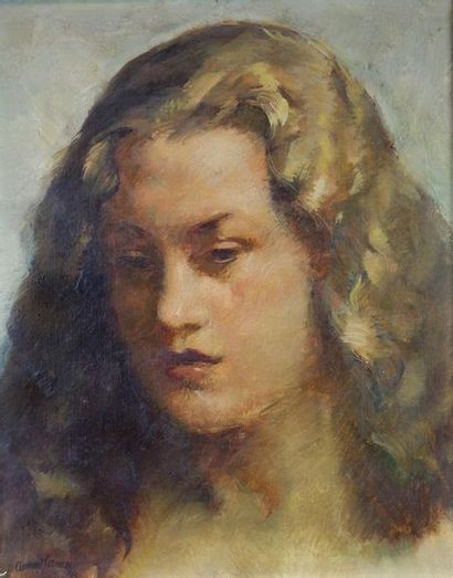 CLÉMENT-SERVEAU (1886-1972) Portrait de femme...