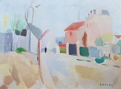 André LANSKOY (1902-1976) Vue de Meudon,...