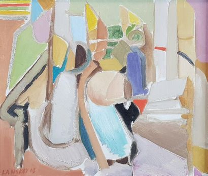 André LANSKOY (1902-1976) L 5, 1963. Huile...
