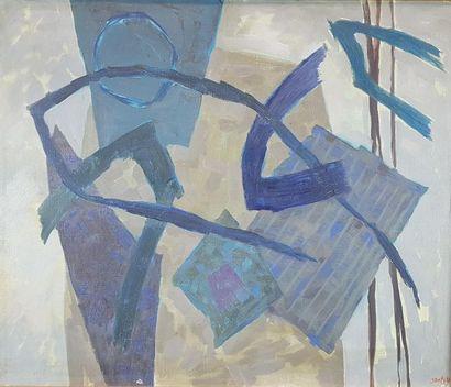 Henri GOETZ (1909-1989) Composition bleue,...