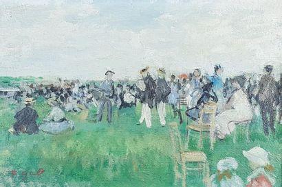 François GALL (1912-1987) Garden Party. Huile...