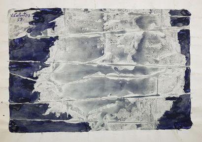 Valerios CALOUTSIS (1927) Composition bleue...