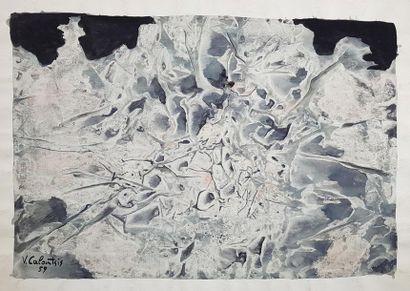 Valerios CALOUTSIS (1927) Composition grise...