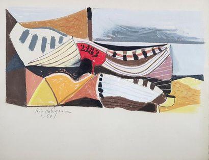 Loïc DUBIGEON (1934-2003) La barque 2183,...