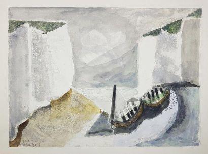 Loïc DUBIGEON (1934-2003) La crique, 1955....