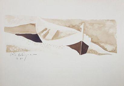 Loïc DUBIGEON (1934-2003) La barque, 1960....