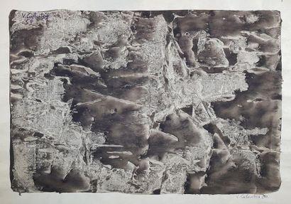 Valerios CALOUTSIS (1927) Effet de vague....