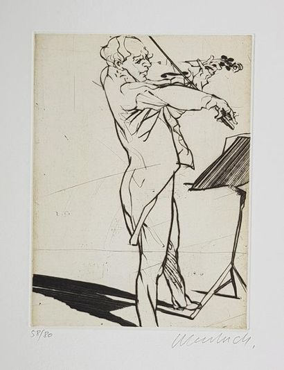 Claude WEISBUCH (1927-2014) Le violoniste....