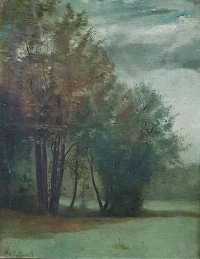 Antoine CHINTREUIL (1814-1873) Paysage. Huile...