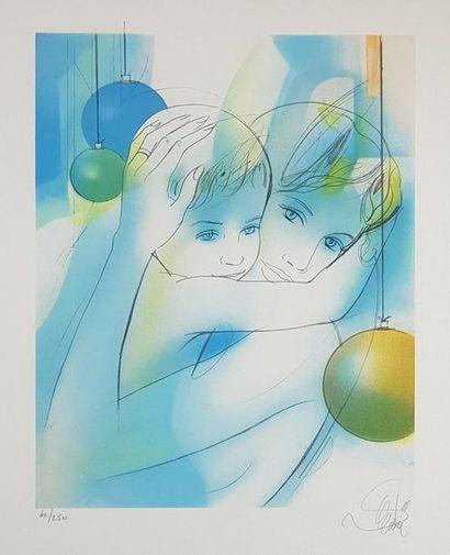 Jean-Baptiste VALADIÉ (1933) Nu et Maternité....