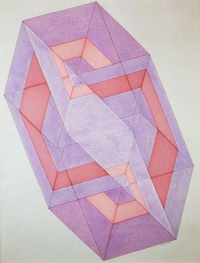 Ronald ABRAM (1938-1999) Figure géométrique,...