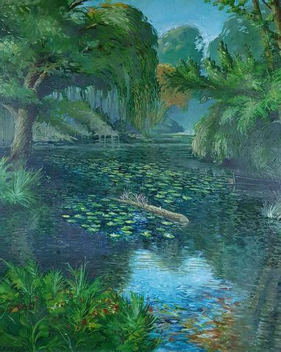 Jean-Claude BORDAGE (1944) La rivière aux...