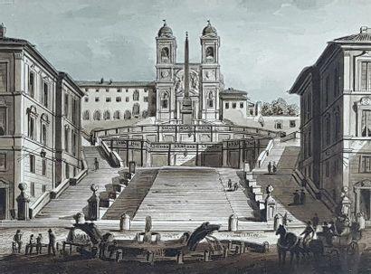 Ecole du début du XXe siècle Vues de Rome....