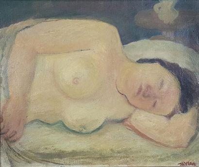 Maurice Louis SAVIN (1894-1973) Le sommeil....