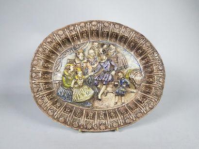 Dans le goût de PALISSY Henri IV et sa famille....