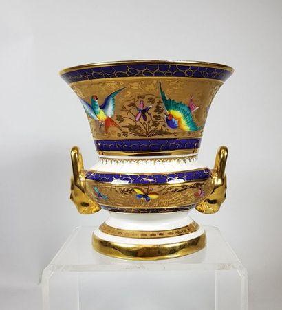 LE TALLEC Vase balustre à deux anses en forme...
