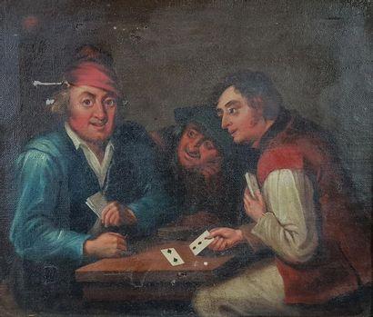 Ecole du XIXe siècle Les joueurs de cartes....
