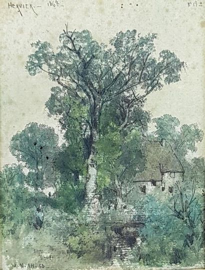Louis Adolphe HERVIER (1818-1879) Paysage...