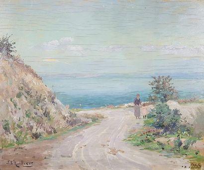 Jacques L'HUILLIER (1867-?) Promenade en...