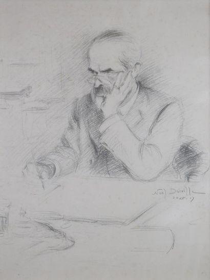 Noël DORVILLE (1874-1938) Portrait d'homme...