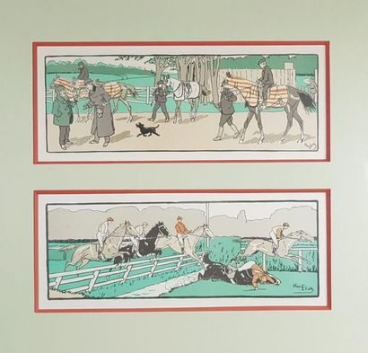 Harry ELIOTT (1882-1959) Scènes équestres....