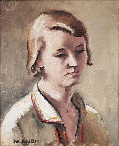Maurice ASSELIN (1882-1947) Jeune femme....