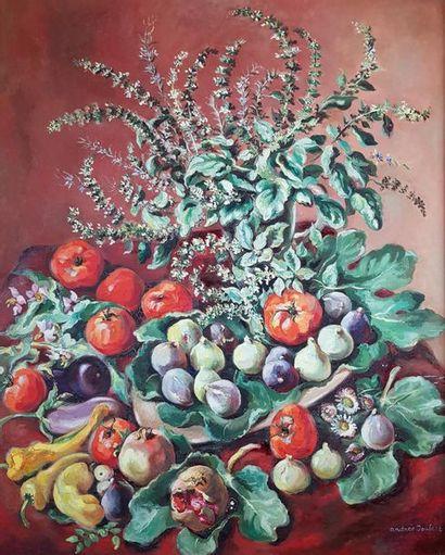 Andrée JOUBERT (1894-1961) Fruits et légumes....