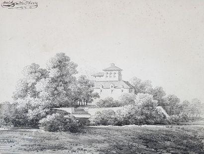 Michel MANDEVARE (1759-1829) Paysages. Deux...