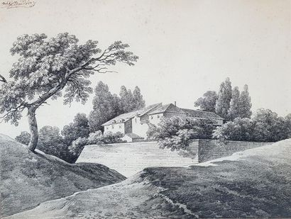 Michel MANDEVARE (1759-1829) Paysages. Deux dessins à la mine de plomb signés à...