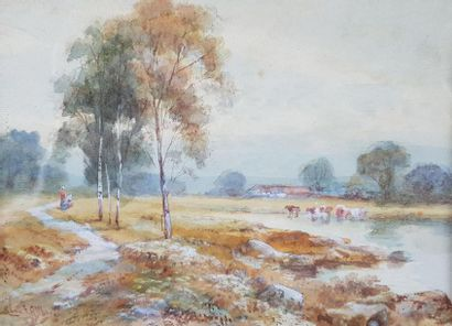 Charles Frederick ALLBON (1856-1926). Paysage...
