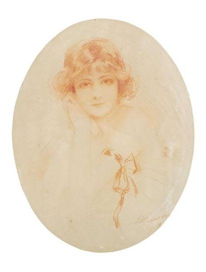Simone MEUNIER (1890-1937). Portrait de femme....