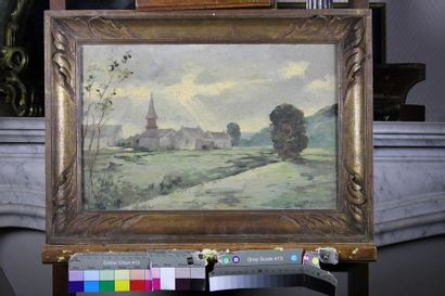 Pierre BILLET (1837-1922). Le clocher du...