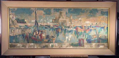 Robert DEBIEVE (1926-1994). Le port de Socoa...