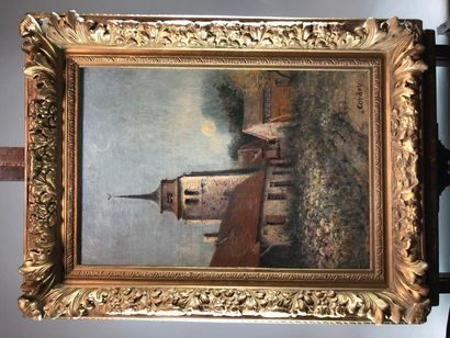 CORDEY (XXe siècle). L'église du village....