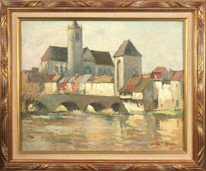 Jean-Pierre FERRAND (1902-1983). Le village....